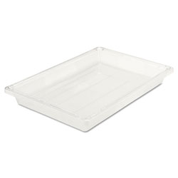 Rubbermaid Food/Tote Boxes, 5gal, 26w x 18d x 3 1/2h, Clear