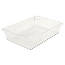 Rubbermaid Food/Tote Boxes, 8 1/2gal, 26w x 18d x 6h, Clear