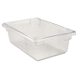 Rubbermaid Food/Tote Boxes, 3 1/2gal, 18w x 12d x 6h, Clear