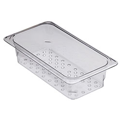 Cambro Food Pan Colander 1/3 X 3 in Camwear® Clear
