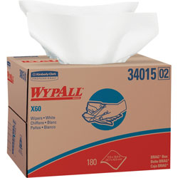 WypAll® X60 Shop Rags, White