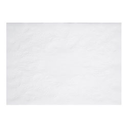 Hoffmaster Dubonnet Straight Edge Placemat, 9 3/4 inx14 in, White