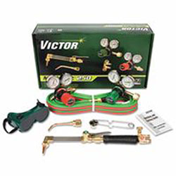 Victor Technologies Acetylene, 5 in, Oxygen, Cutter Select Medalist 250 Outfit, 1/2
