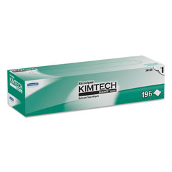 Kimtech™ Kimwipes Delicate Task Wipers, 1-Ply, 11 4/5 x 11 4/5, 196/Box, 15 Boxes/Carton