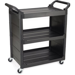 Rubbermaid Black Utility Cart With Side Panels 150lb