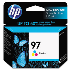 HP 97 Cyan/Magenta/Yellow Ink Cartridge ,Model C9363WN140 ,Page Yield 450