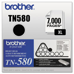 Brother TN580 Toner Cartridge - 1 x Black - 7000 Pages