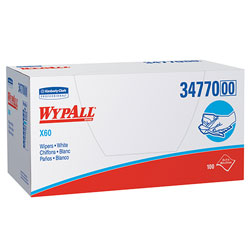 WypAll* X60 Cleaning Wipes, White, 9 Packs of 100