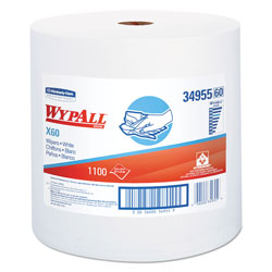 WypAll® X60 Cleaning Wipes, White, 1 Roll