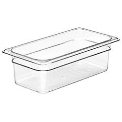 Cambro Food Pan 1/3 X 4 in Camwear® Clear