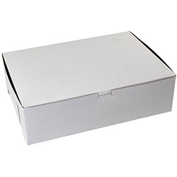 "BOXit White Bakery Box, 14"" x 10"" x 4"""