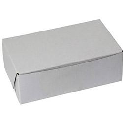 BOXit White Bakery Box, 6.25 in x 3.75 in x 2.125 in