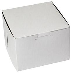 BOXit White Bakery Box, 5.5 in x 5 in x 4 in