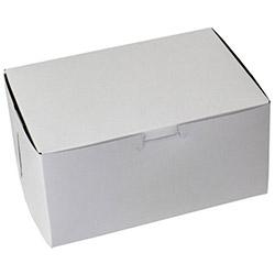 BOXit White Bakery Box, 8 in x 5.5 in x 4 in