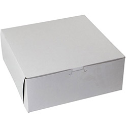 "BOXit White Bakery Box, 10"" x 10"" x 4"""