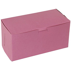 BOXit Pink Bakery Box, 8 in x 4 in x 4 in