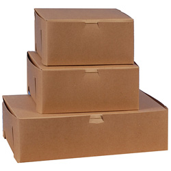 "BOXit Kraft Two Cupcake Box, 8"" x 4"" x 4"""