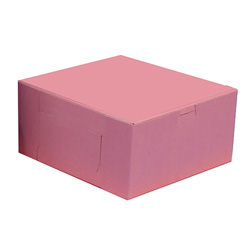 BOXit Pink Bakery Box, 10 in x 10 in x 5 in