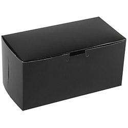 BOXit Black 2 Cupcake Box, 8 in x 4 in x 4 in