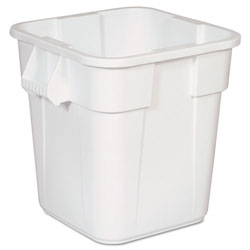 Rubbermaid Brute Square Containers, 28 gal, White