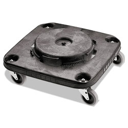 Rubbermaid Brute Container Square Dolly, 250 lb Capacity, 17.25 x 6.25, Black
