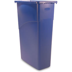 Rubbermaid Rectangle Plastic Indoor Trash Can, 23 Gallon, Blue