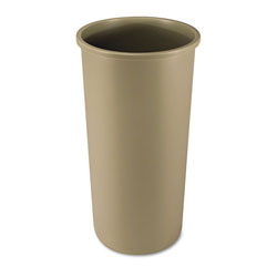 Rubbermaid Round Plastic Indoor Trash Can, 22 Gallon, Beige