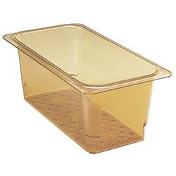Cambro Food Pan Colander 1/3 X 5 in H-Pan® Amber
