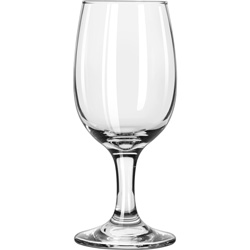Libbey Embassy Pear Bowl 8.5-Oz Wine Glass, Case of 24