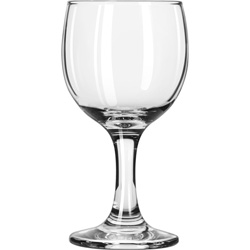 "Libbey Embassy Flutes/Coupes & Wine Glasses, Wine, 6 1/2oz, 5 3/8""H, Clear"