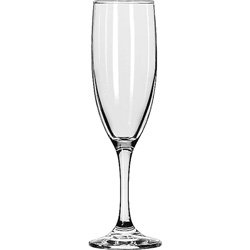 "Libbey Embassy Flutes/Coupes & Wine Glasses, Flute, 6oz, 8 1/8"" Tall, 12/Carton"