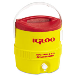 Igloo Industrial Water Cooler, 3 gal, Yellow Red