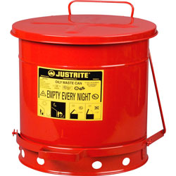 Justrite 10 Gallon Oily Waste Canw/Lever