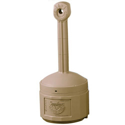 Justrite Plastic Smoking Receptacle, 4 Gallon, Beige