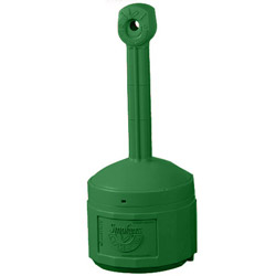 Justrite Smokers Cease-Fire Cigarette Butt Receptacle, Forrest Green