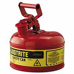 Justrite Type I Safety Can, 1gal, Red