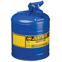 Justrite Type I Safety Can, 5gal, Blue