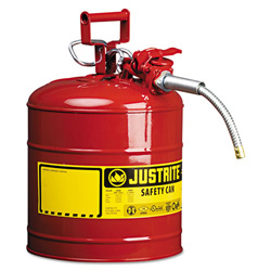Justrite AccuFlow Safety Can, Type II, 5gal, Red, 5/8 in Hose