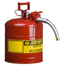 Justrite AccuFlow Safety Can, Type II, 5gal, Red, 1 in Hose