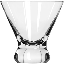 "Libbey Cosmopolitan Beverage Glasses, Cocktail/Dessert, 8.25 oz, 3 7/8"" Tall"