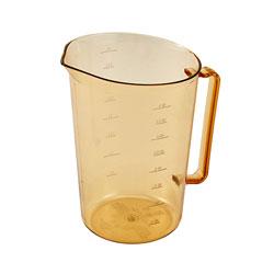 Cambro 400MCH150 4 Qt. Amber Plastic Measuring Cup