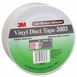 3M Vinyl Duct Tape 3903, White, 3 in x 50 yd x 6.5 mil