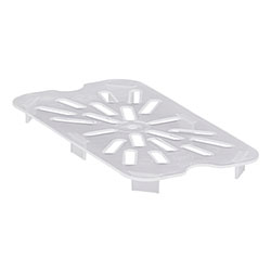 Cambro Food Pan Drain 1/4 Polypropylene Translucent