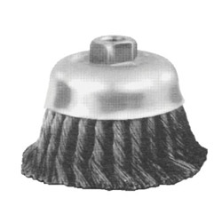 "Advance Brush 4"" Knot Cup Brush .023cs Wire 5/8""-11"