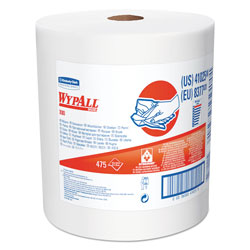 WypAll* X80 Cloths with HYDROKNIT, Jumbo Roll, 12 1/2w x 13.4 White, 475 Roll