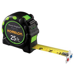 "Komelon Usa 1"" x 25' Mag Grip Pro Tape Measure"