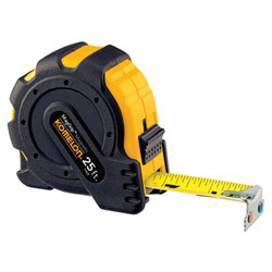 "Komelon Usa 1"" x 30' Steel Tape Measure Mag Grip Rub Jacket"