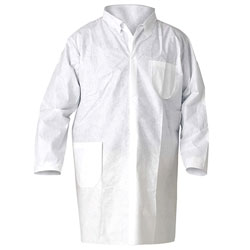 Kleenguard® Large White Lab Coat Snap Front