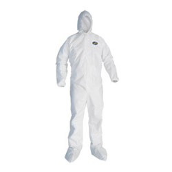 Kimberly-Clark A30 Breathable Particle Protection Coveralls, White, Large, 25/Carton