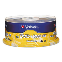 Verbatim 30 x DVD+RW - 4.7 GB 4X - Spindle - Storage Media
